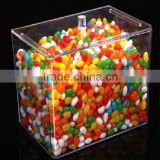 transparent retangular best selling acrylic candy box with lid