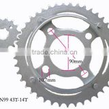 Zhenjiang yongkang dongsheng motor chain sprocket fine blanking sprocket chain drive sprocket rear front teeth sprocket