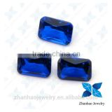 Rectangle blue sapphire 113# synthetic spinel gems
