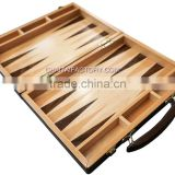 High Quality Folding 3 in 1 CHESS Checkers Backgammon Classic INLAID WOOD Game in WALNUT Carry Case