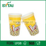 32oz biodegradable custom logo printed popcorn paper cup container