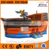 Hot selling giant outdoor toys inflatable bouncer inflatable pirate ship bouncer 0.55mm PVC
