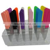 High quality stainless steel colorful spray paint nail file in display box