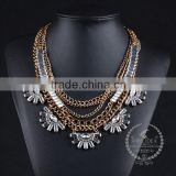 high quality vintage rhinestone chunky statement necklace tin alloy fashion women pendant necklace 6390124