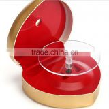 Folded turntable rotatable advertising display case, jewelry display box , jewelry display showcase