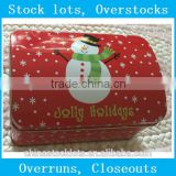 stocklots,overstock,stock,surplus,closeout, excess inventories,Overproduction Christmas gift Tin box can 2pc set