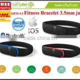 SIFIT-4.5 Smart Pedometer Wristband, Works With smart phone, Sync Data by 3.5mm Audio Jack, Convenient and Quick Charging Method