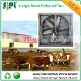 Poultry equipment cow house exhaust fan 250W solar panel powered large air cooling fan dc ventilation fan
