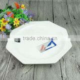 Inquiry about 12 Inch Polygon White Porcelana Dinner Dishes Plates Low Pirce Ceramic Plate Restaurant