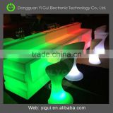 metal leg color changing LED cocktail table without glass