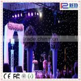 Flexible white black curtain stage backdrop wedding led star backdrop