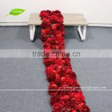 GNW FLW1606007-GAR Wholesale Beautiful decoration red rose and hydrangea wedding flower wall backdrop