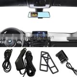 "2016 new HD 4.3"" Dual Lens Video Recorder Dash Cam Rearview Mirror Car Camera DVR CEG85"