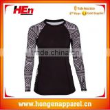 Hongen apparel custom sports sublimation ladies long sleeves rash guards with long pants