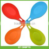 100% Food Grade Kitchen Soup Use Silicone Spoon Rest, Large Soup Spoon Shape Rest, Set Of 4 Kitchen Tools Holder