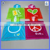 Wholesale china baby hooded towel surf poncho beach kids towel