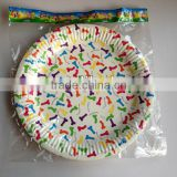 made in china party Paper Plates suppliers irregular stripe melamine dish earth friendly paper plates