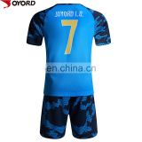 Free design quick dry men football uniform malaysia soccer jersey