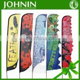 custom wind fly feather teardrop beach promotional flags for outdoor
