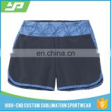 Athletic Wear Running Yoga Shorts / Wholesale Binding Sweat Shorts For Woman
