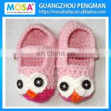 Crochet Baby Girl booties OWL pink Shoes Animal Shoes For Toddler Girl