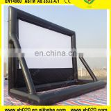 Outdoor film advertising back projection black diamond projector screen