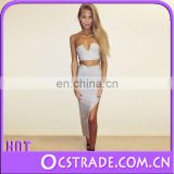 2015 hotsell quality wholesale crop top and skirt set summer sexy