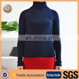 High neck knitted factory cashmere sweater womens