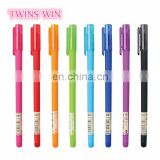 China Market new popular promotion office supplies stationary colorful plastic gel ink pens wholesale
