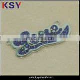 Soft enamel Metal engraved logo jewelry tags