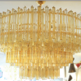European Style Large Hotel Modern Crystal Chandelier with Gold Color