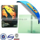 Factory price printed lenticular 3d spiral custome notebook