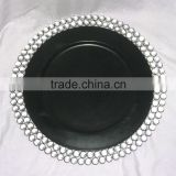 Black Crystal Charger Plate, Wedding Decor, Packaging Trays