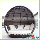 Luxury Aluminum Sun Rattan Round Daybed DW-B032                                                                         Quality Choice
