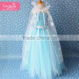 Wholesale Custom cloak Frozen Formal Dress Made Elsa Princess Dress Costume for kids                                                                         Quality Choice