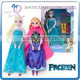 Mini Qute wholesale Kawaii movable joints Plastic cartoon Frozen doll princess anna & elsa olaf girls with shoes children toys