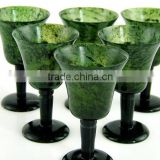 CHINESE CARVED JADE NEPHRITE GOBLETS/CUPS