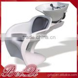 Untique design beauty hair salon reclining shampoo chair,hot sale salon basin plastic chairs hair wash
