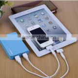 long lasting power bank for ipod touch 12000mah usb portable power bank external battery