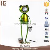 Latest design lying metal frog craft 1612x43/53CMH HG8929B vintage garden decor for wholesales