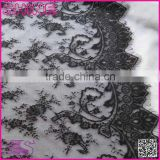 Fashion Women Laces,Factory Sale Non-elastic150cm Flower Wide Black Wedding Dress garment accessory african lace fabrics
