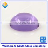 China cheap Wholesale fashion color Synthetic Round Pink Glass Stones