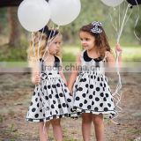 High quality kids summer dress polka dots little girls dress suits high quality cotton baby dress
