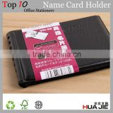 Fashion wholesale business plastic name card holder book with 40 pockets