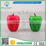 Greenflower 2016 Wholesale artificial fruit pepper China handmake forma fruit for school resturant decoration