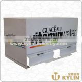 high quality horizontal metal straw dispenser for beverage shop use