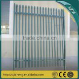 double top rails decorative wrought iron fence /spear top metal fence/ steel fence(Guangzhou Factory)