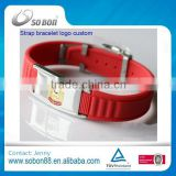 new products 2016 customized magnet pure energy silicone health wrist bands with stainless steel adjustable buckle