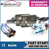 24 Months Warranty H1 H4 H7 H11 9005 9006 35W 55W Fast Bright HID Xenon Kit With Slim Ballast