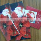 Custom DIY greeting card for chirstma day ,programmable singing happy birthday musical greeting card
